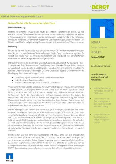 Storage Management mit NetApp ONTAP