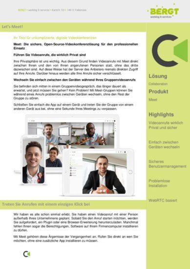 Meet - Videokonferenzen On-Premise