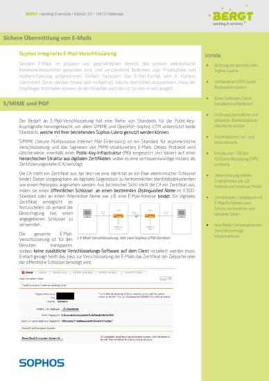Sophos E-Mail Verschlüsselung