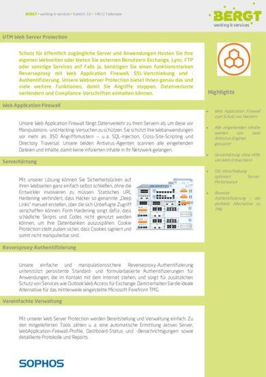 Sophos Webserver Protection